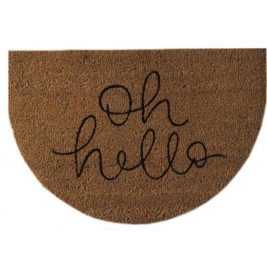 Χαλάκι εξώπορτας σχέδιο Oh Hello (με λάστιχο) 40X60 εκ.