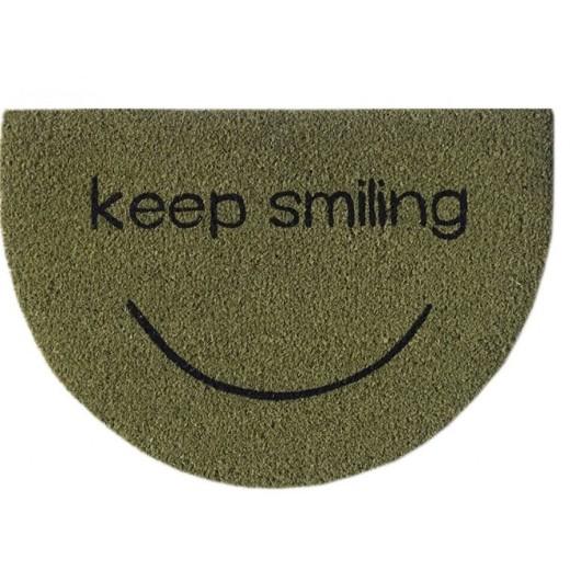Χαλάκι εξώπορτας σχέδιο Keep Smiling (με λάστιχο) 40X60 εκ.
