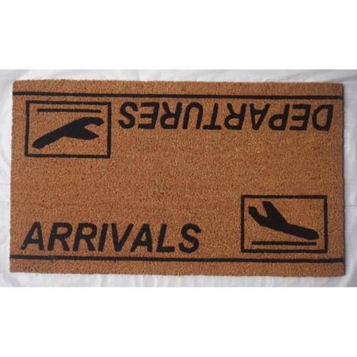 Χαλάκι εξώπορτας με λάστιχο 43X73 εκ. Departures/Arrivals