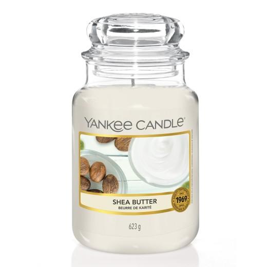 Yankee Candle Αρωματικό Κερί σε Γυάλινο Δοχείο Large σειρά Shea Butter