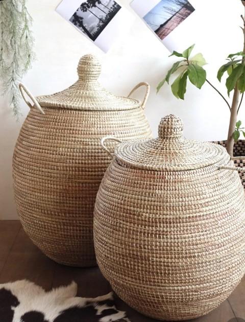 Καλάθια Ψάθινα-Bamboo