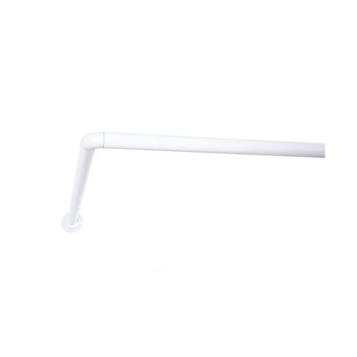 Σωλήνας στήριξης γωνία για μπανιέρα - ντουζιέρα λευκός [Διαθέσιμο σε 3 μεγέθη]