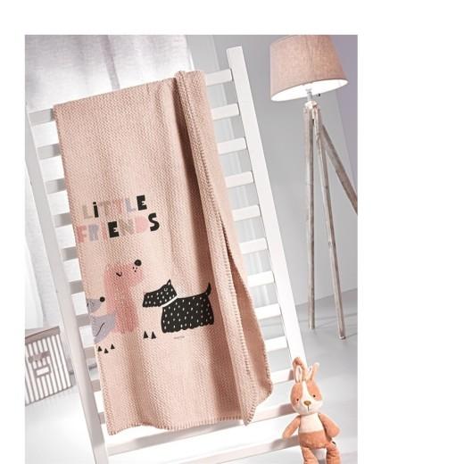 Κουβέρτα ultrasoft παιδική (160Χ220) DOGGY PINK, SAINT CLAIR