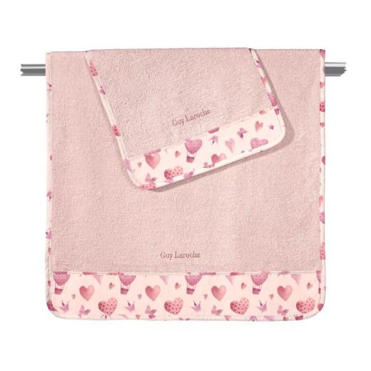 Πετσέτες BEBE SWEET HEART ΣΕΤ 2τεμάχια (40Χ60-70Χ130) Guy Laroche