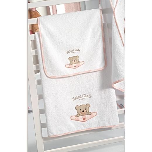 Σετ πετσέτες βρεφικές 2 τμχ. Teddy Rose by Saint Clair