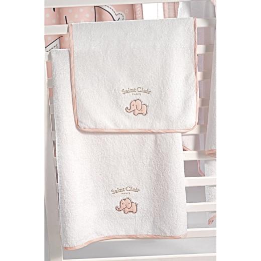 Σετ πετσέτες βρεφικές 2 τμχ. Africa Pink by Saint Clair