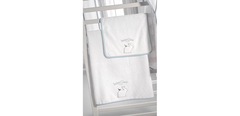 Σετ πετσέτες βρεφικές 2 τμχ. Lapin Blue by Saint Clair