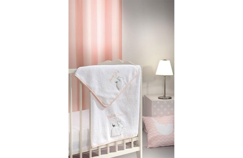 Σετ πετσέτες βρεφικές 2 τμχ. Lapin Pink by Saint Clair