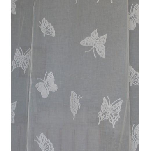 Δαντέλα βαμβακερή Σκωτίας Φ.1,60 μ. Butterflies