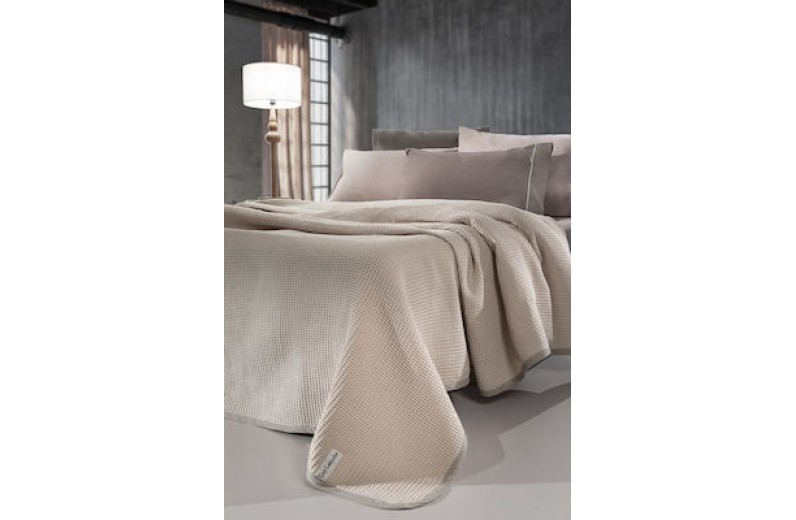 Guy Laroche Just Κουβέρτα Βαμβακερή Μονή 165X250 Natural