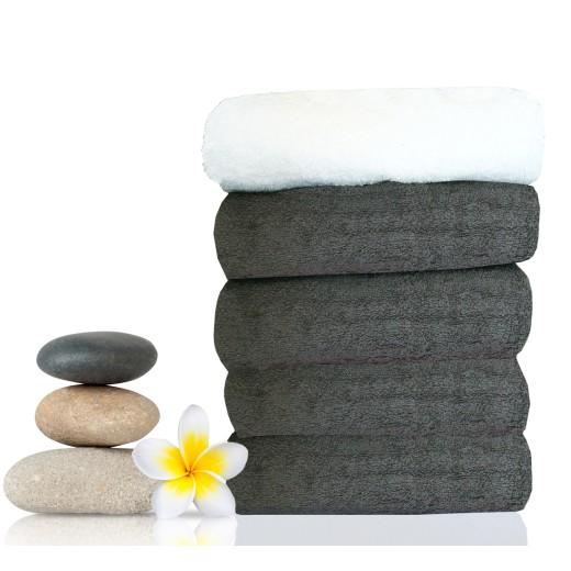 Πετσέτα κομμωτηρίου-spa γκρι 50X90