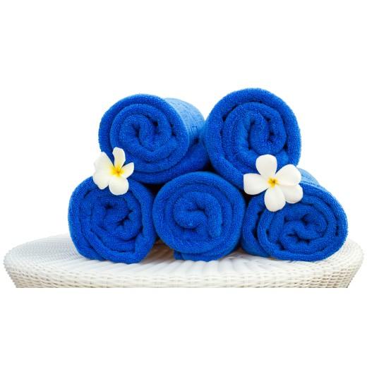 Πετσέτα πισίνας-spa μπλε ρουά 75X150
