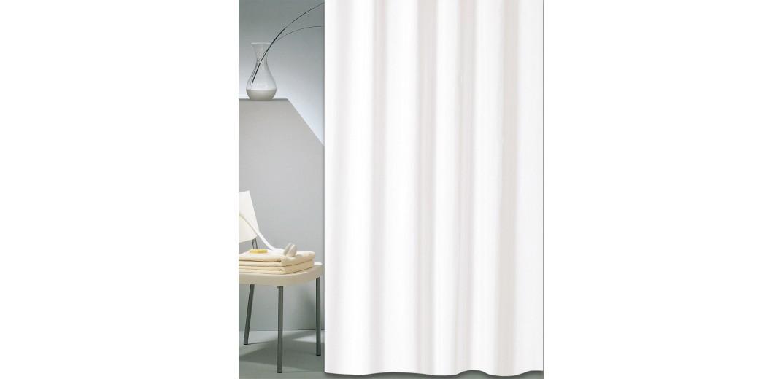 Κουρτίνα μπάνιου ξενοδοχείου SOLID λευκό 180X200