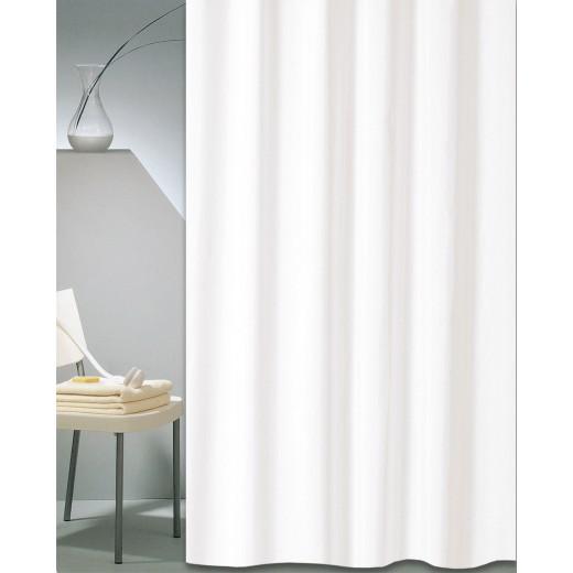 Κουρτίνα μπάνιου ξενοδοχείου SOLID λευκό 180X180