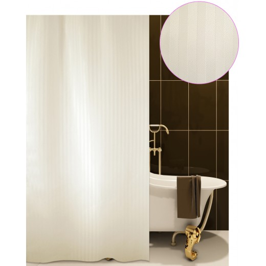 Κουρτίνα μπάνιου ξενοδοχείου LUXOR μπεζ 180X200