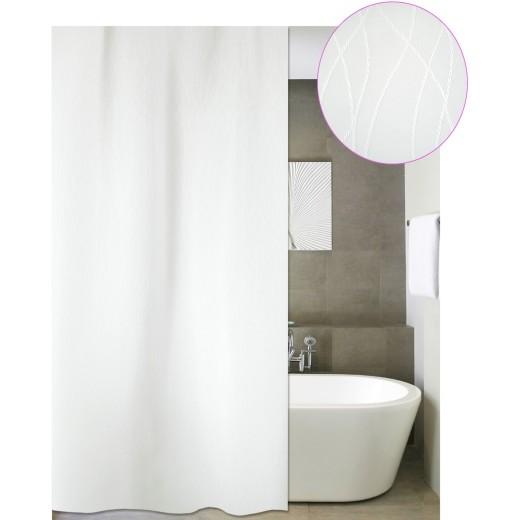 Κουρτίνα μπάνιου ξενοδοχείου BERLIN λευκό 180X180