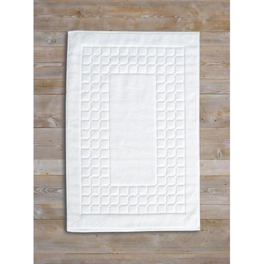 Ταπέτο-πετσέτα CHESS 50X75 λευκό 100% βαμβακερό