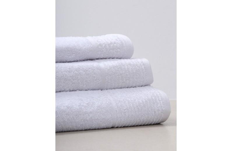 Πετσέτα χειρός λευκή ξενοδοχειακή 500 gsm 30X50 εκ.