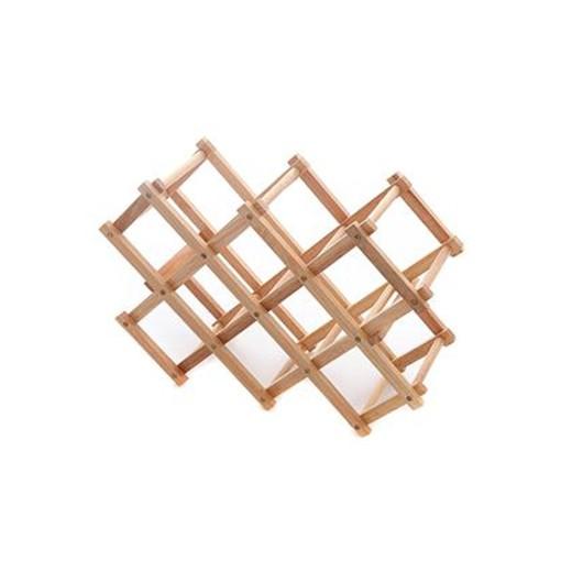 Κάβα ξύλινη σε φυσικό χρώμα για 10 μπουκάλια 55x40x19 εκ.