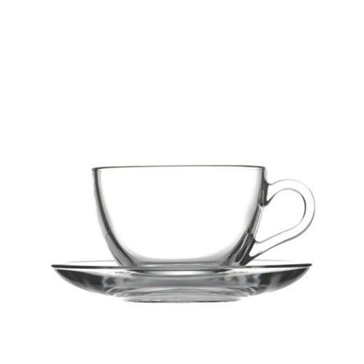 BASIC CUP&SAUCER 238CC CAPPUCCINO 13.7X6.5 CM.